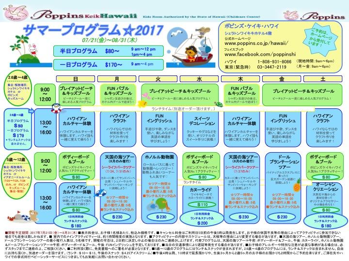 2017 summer program