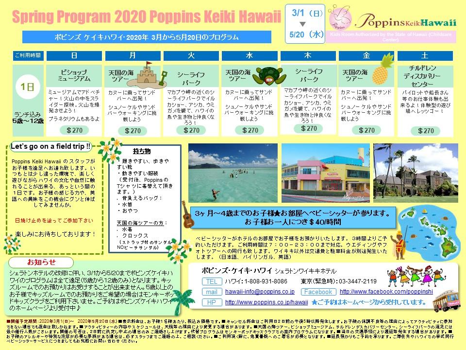 スプリングプログラム 2020 (English+日本語)